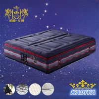 pillow top detachable coil and latex hybrid mattress,multiple size thumbnail image