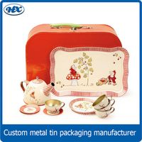 Metal tin tea sets toys for kids
