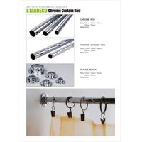 chrome curtain pipe and bracket