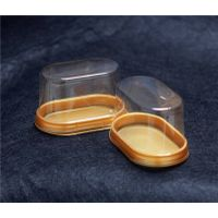 Oval cake plastic boxes with lids thumbnail image