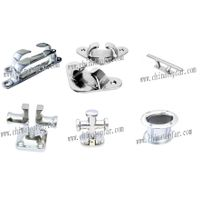 Stainless steel hardware for boat and yacht: Mooring bollard,chock,roller fairlead,cleat,hawse pipe