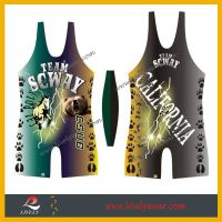 lively--wrestling singlets with customize sublimation printing Wrestling singlet