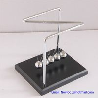 Z-shaped Frame Newtons Cradle Balance Ball Science Psychology Puzzle Fun Desk Toy