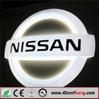 3D LED Lighted Vacuum Forming Making Car Sign, LED Car Logo and Name