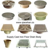Round and Square Bronze Nickel Bronze Strainer and Cleanout Top for Floor Drains