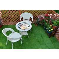 30x30cm interlocking antibacterial artificial plastic grass floor tile with permeable backing for ga