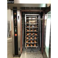 Professional industrial hot flow air 32 trays electric bakery rotary oven bread baking ovens thumbnail image