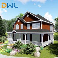 Hot sale China ready made prefabricated light steel villa home thumbnail image