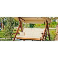 Luxury Wooden Garden Swing - Outdoor Swing thumbnail image