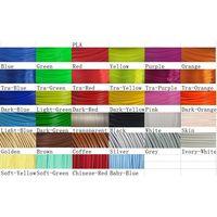 many colors 3D Printing Filament,PLA materials 1.75mm 2.85mm 3.0mm