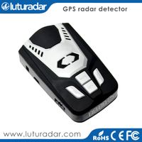 Russian voice and LED icons alert car speed radar laser detector with Russia speed camera gps