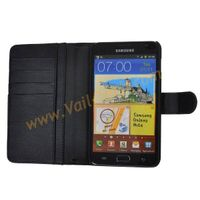 Black Wallet Leather Case Skin Cover For Samsung Galaxy Note i9220 N7000