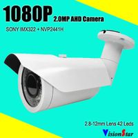 Full HD cctv analog sony cmos sensor ahd bullet camera 1080p ir 40m surveillance video system