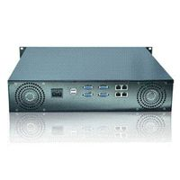 2u rackmount server case with lcd