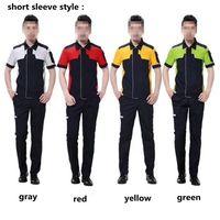 Men and Women Alike Short sleeve Workwear Uniform Car Auto Repair Work Wear Clothes