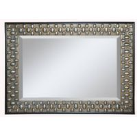 Dot wood mirror frame