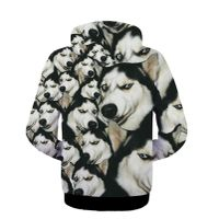 2018 New 3d Doge Dogs Head Printed Pullovers Funny Couple Sweatshirts God Annoying Dog Shiba Husky L
