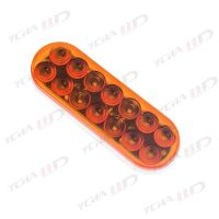 "LED trailer 6"" Oval Stop/Parking/Turn Signals/Tail Light amber"