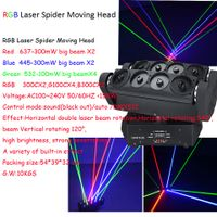 8eyes RGB spider moving head laser light for stage