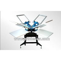 4 colour 4 station manual screen machine