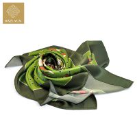 High Quality Custom Printing Square Style Chinese Silk Satin Scarf
