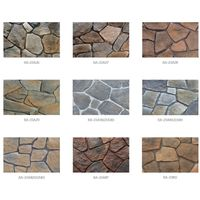 artificial scattered stone cultured stone wall cladding facade veneer