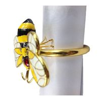 2013 golden silver plated bee style napkin rings thumbnail image