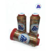 Colorful 100% Polyester Cotton Thread Multi Color Rainbow Sewing Thread thumbnail image
