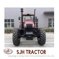 SJH160HP 4WD new farm tractor with front loader and backhoe