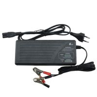 24V 2.8A LiFePO4 battery charger for 8 cells 25.6V battery pack with battery meter indicating thumbnail image