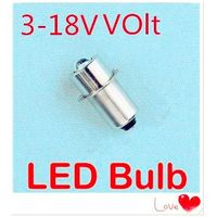 LED P13.5S 1W recessed screw LED light 3V-18V p13.5s screw base led flashlight bulb 18V