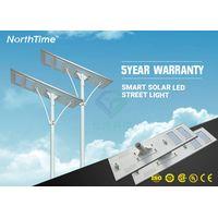 Integrated Solarworld Panel Solar Street Lights With Lithium Battery Bridgelux LED thumbnail image
