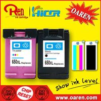 for HP 650 XL Black Ink Cartridge Show Ink Level thumbnail image