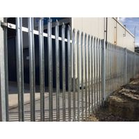 Hot dipped galvanized metal W  pale palisade fencing
