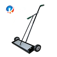 Magnetic suction sweeper for steel shot collect