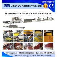 corn flakes making machine breakfast cereal processing line