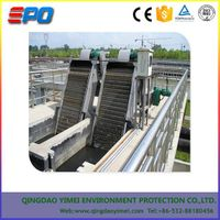 Mechanical rake waste water bar screen