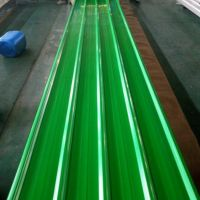 Green 0.17mm Thickness T Profiled PPGI/PPGL Roof Sheets for Construction thumbnail image
