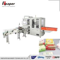 PLC Servo Motor Control Automatic three dimensional high speed facial tissue packing machine
