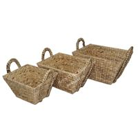 Water hyacinth basket for home decor and furniture - SD5842A-3NA