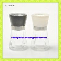 clear glass grinder spice jar with plastic grinder lid thumbnail image
