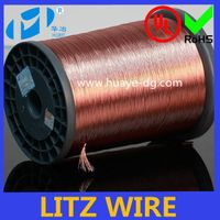 Professional high-performance magnetic induction coils self bonding copper litz wire price