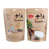 ziplock plastic bag kraft paper bag for coffee food packaging bags with window