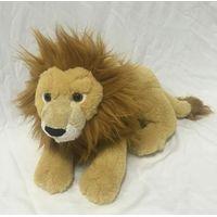 Stuffed animal brown lying plush lion 17.5 inch for baby