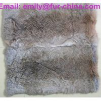 Natural Grey Rabbit Fur Cushion thumbnail image