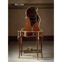 French Louis XV style gilt-ormolu-mounted kingwood and parquetry dressing table / coiffeuse
