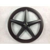carbon road five spoke wheel