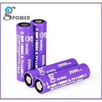 Top selling Gpower IMR 18650 3.7v 2500mah and high drain rechargeable li ion 35A battery