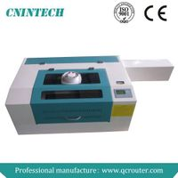 QC6040 for non-metal material portable laser fabric cutting machine/mini laser cutting machine/porta thumbnail image