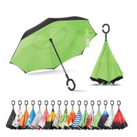 Double Layer Inverted Umbrella with C-Shaped Handle, Anti-UV Waterproof Windproof Straight Umbrella thumbnail image
